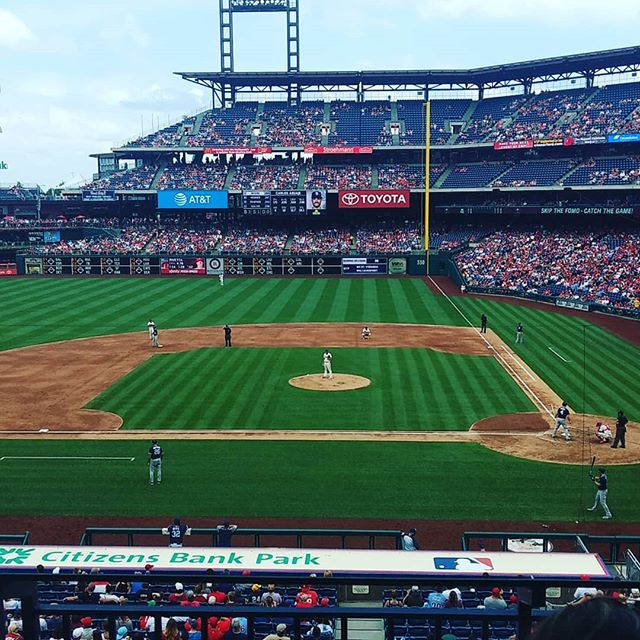 Client meeting in a suite during a Phillies game. Big moves for us in the near future.