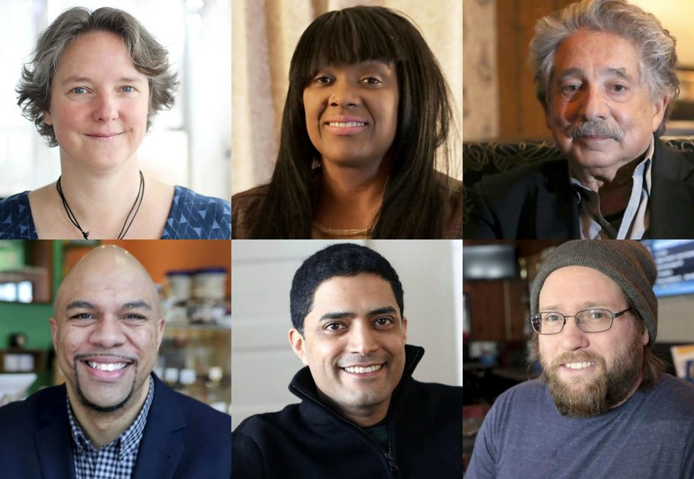 Wisconsin State Journal Photo Illustration  Madison mayoral candidates. Clockwise from upper left, Satya Rhodes-Conway, Toriana Pettaway, Paul Soglin, Nick Hart, Raj Shukla and Mo Cheeks are looking to lead Madison for the next four years. The primary is Tuesday.