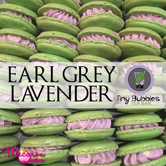 Warning ⚠️ do not lick your screen. 💚 #Repost @tinybubblesteabar ・・・ Baked exclusively for Tiny Bubbles Tea Bar, Earl Grey Lavender Macarons by the one and only @macaronqueenatl !  Inspired by our best selling bubble tea. • Two ganaches one amazing taste! Pure earl grey tea concentrated for rich flavor! Then a second layer of crème de lavende française!  Scroll right for more pics ! Photo Credit: @macaronqueenatl