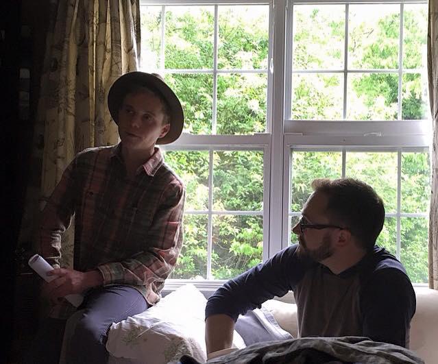 Al Benoit & Rubash discussing a scene. photo credit: Chloe Howcroft