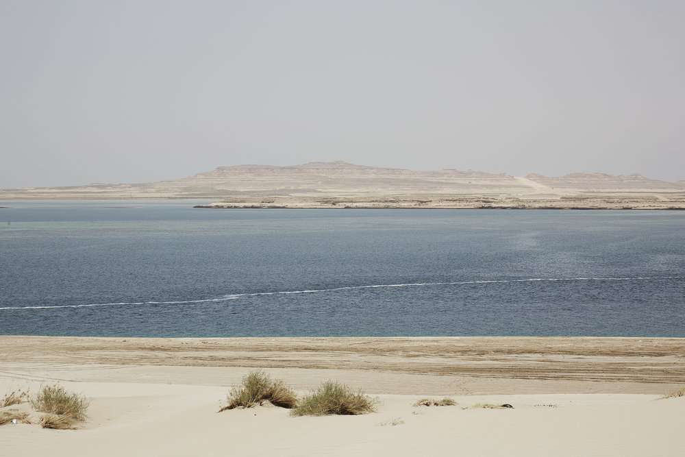 Overlooking The Saudi border just on the other side of the Inland Sea