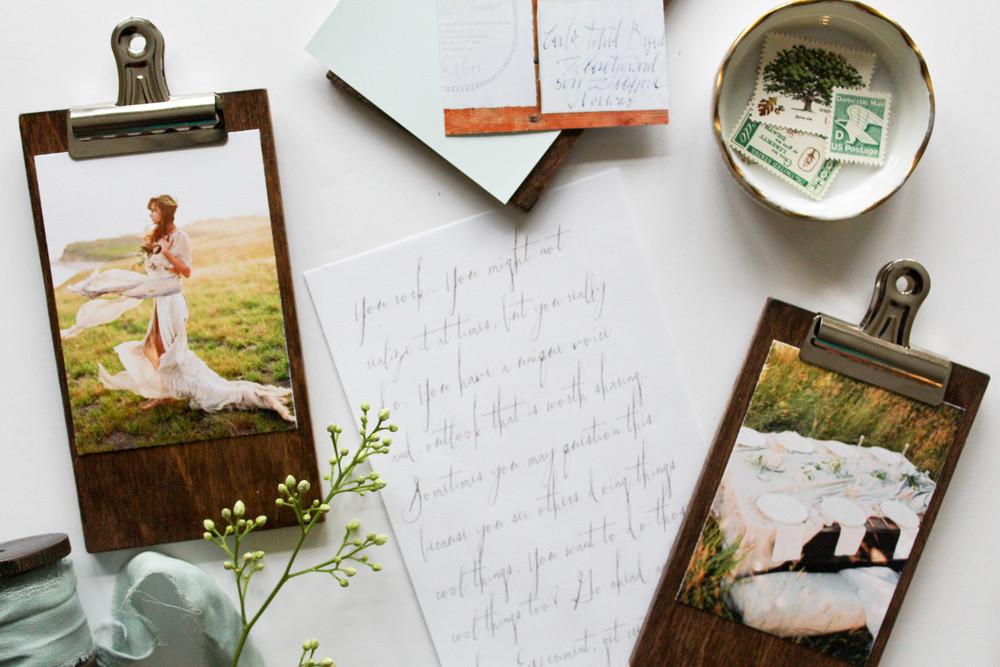 DIY Wooden Mini Clipboards — Linda Ha Events