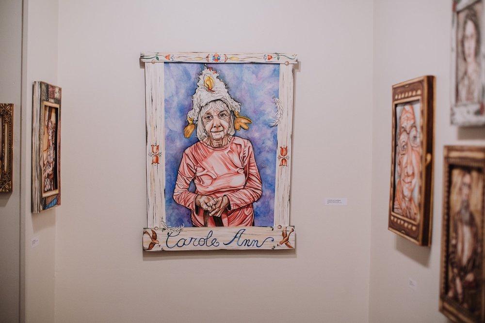 A photo from Amanda's exhibit at Larkin Arts, January 2017