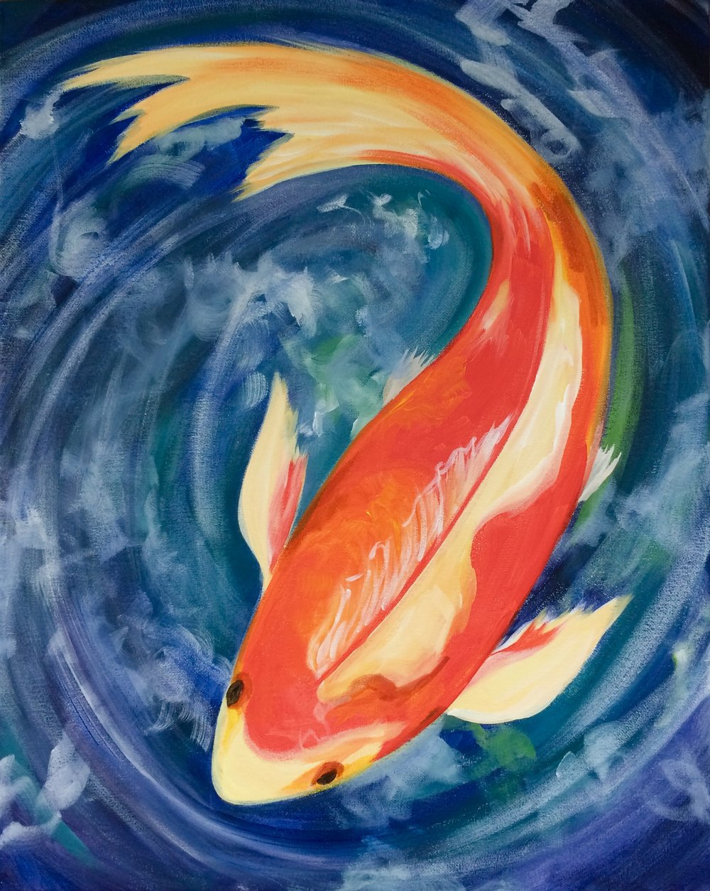 AUGUST 23  - KOI SWIMMING