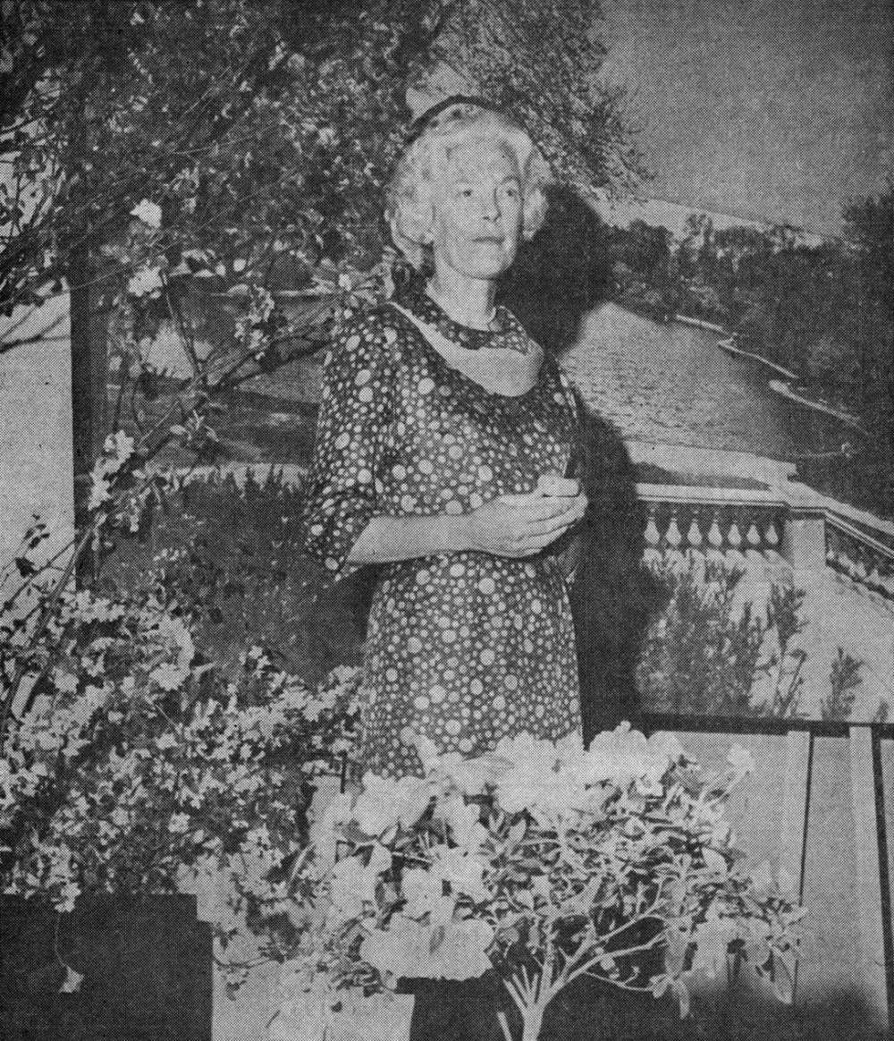 Mrs. George S. Case at a GCA meeting in 1965