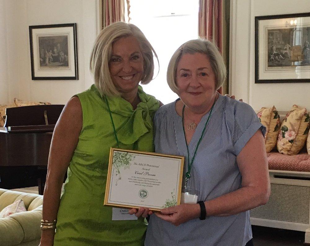 Carol Provan - SLGC President's ABCD Award