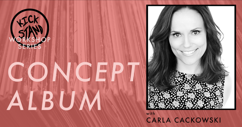"""Learn from celebrated teacher and performer Carla Cackowski in this one-time-only, 5 hr workshop.   """"Concept Album"""" is an improv form where the ensemble presents three different album options for the audience to vote on. The ensemble then improvises over the music. Through physicality, point of view, and relationship dynamic, the improvisers create a totally improvised show in combination with the tempo of the album's previously recorded tracks.   Carla Cackowski is a writer and improviser living in Los Angeles. She teaches improv, sketch, and solo show writing workshops. She regularly tours across the country with her two person improv show, """"Orange Tuxedo"""". Carla is an improv teacher at The Second City in Hollywood and is the Training Center Director at Mi's Westside Comedy Theater in Santa Monica. She likes plants, La Croix, tiny houses, and naps.  www.carlacackowski.com"""
