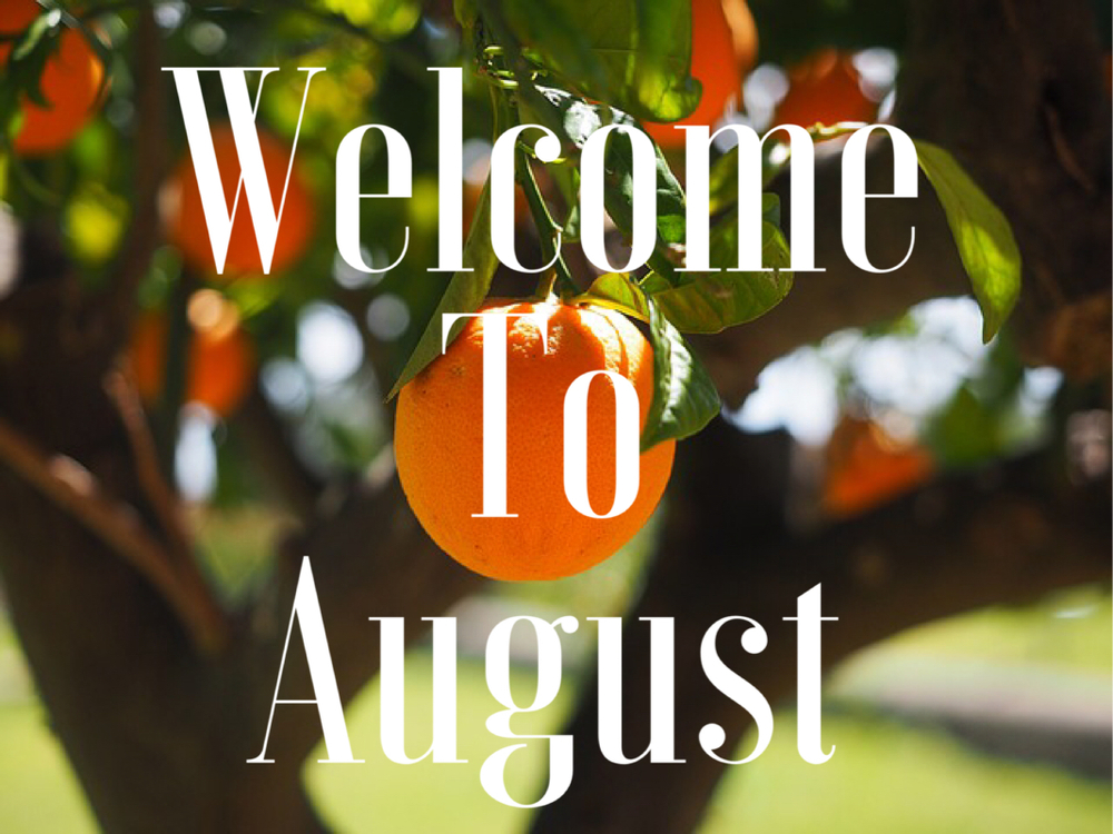 Welcome to August Guys!!