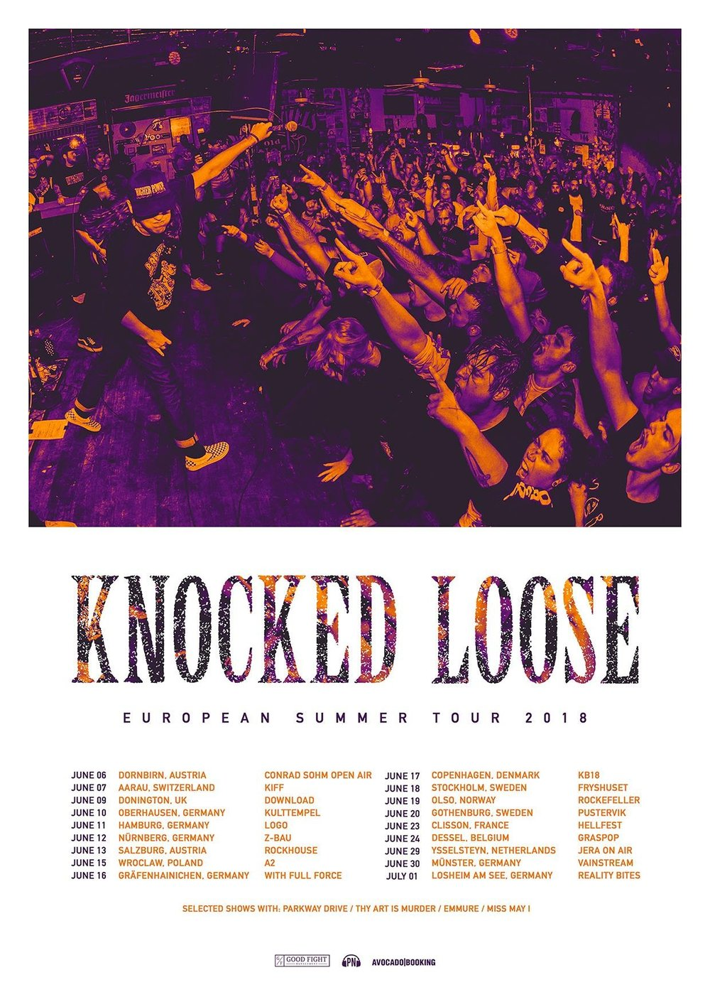 Knocked Loose 2018 EU Summer Tour Admat