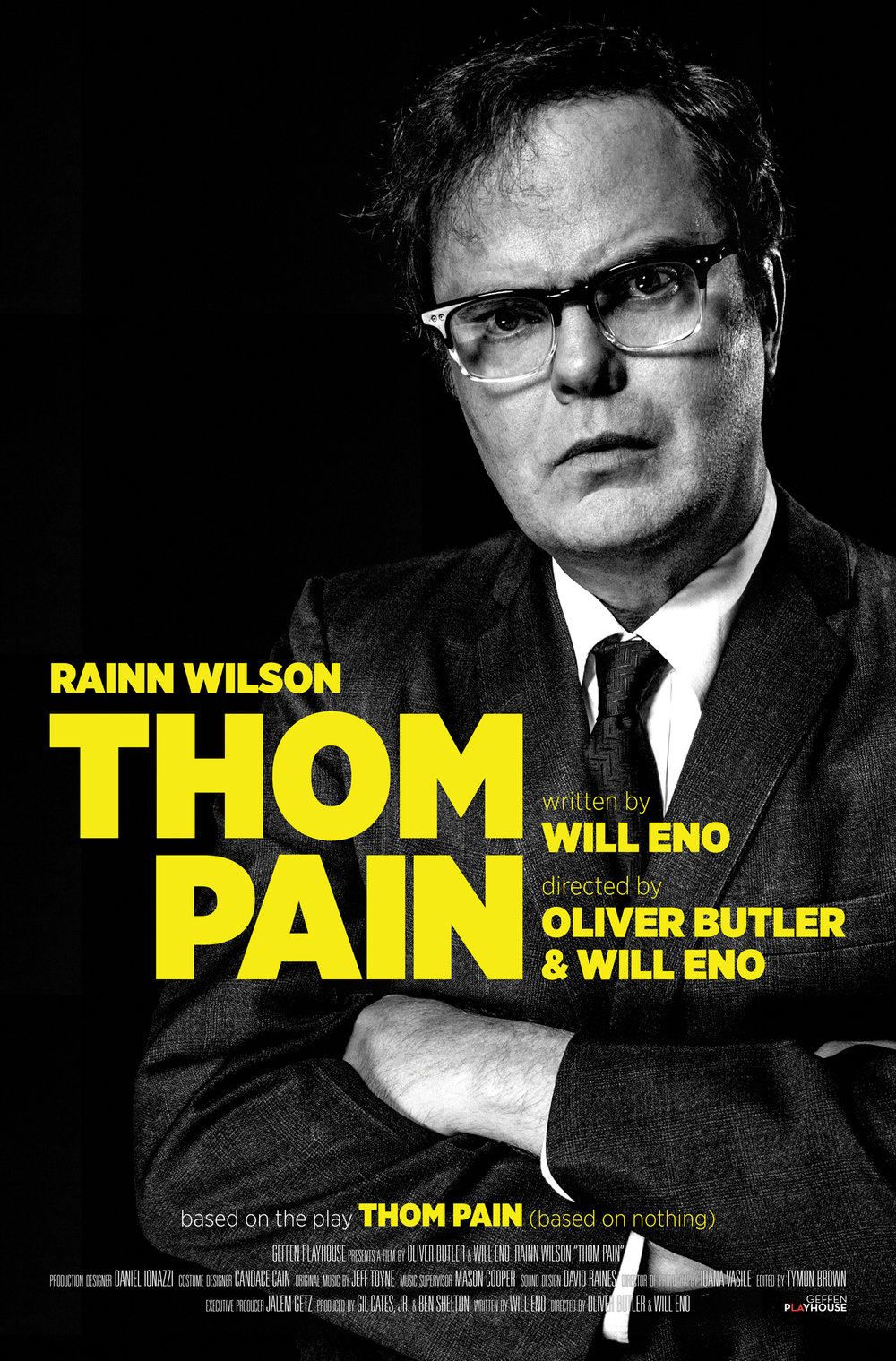 Special Event - screening& discussion with Rainn Wilson - Courtesy of Geffen Playhouse & Broadway HDThom Pain is just like you, except worse. One night, he finds himself on a stage, in the dark, in a theatre. In the audience are people who, just like him, were born and will die. Thom is going to try to make sense of it all. He's going to try to save his life, to save their life, to save your life - in that order. A camera crew captures the night, as various forces align to produce a reckless.June 11th, 7pmBjorklundenFestival or Premium Pass Required