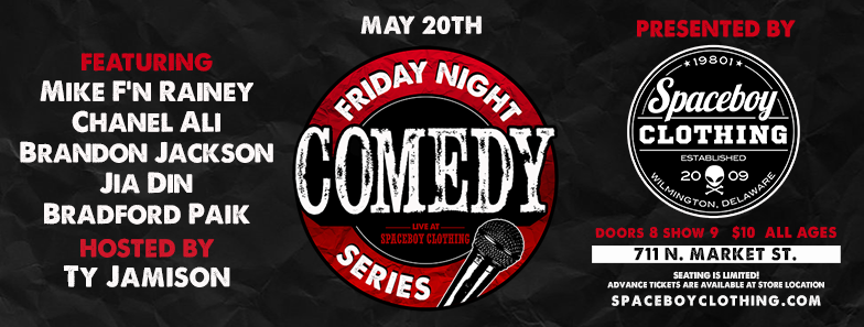 Our first comedy event was a hit! So we teamed up with a couple local comics to bring you another hilarious Friday Night! Featuring:  Mike F'n Rainey Chanel Ali Brandon Jakson Jia Din Bradford Paik Hosted by: Ty Jamison Doors 8, Show 9 $10 All Ages Welcome Seating is limited, be sure to come early! BYOB Join the Facebook Event! Check out this clip of local Comic Brandon Jackson from the last show!