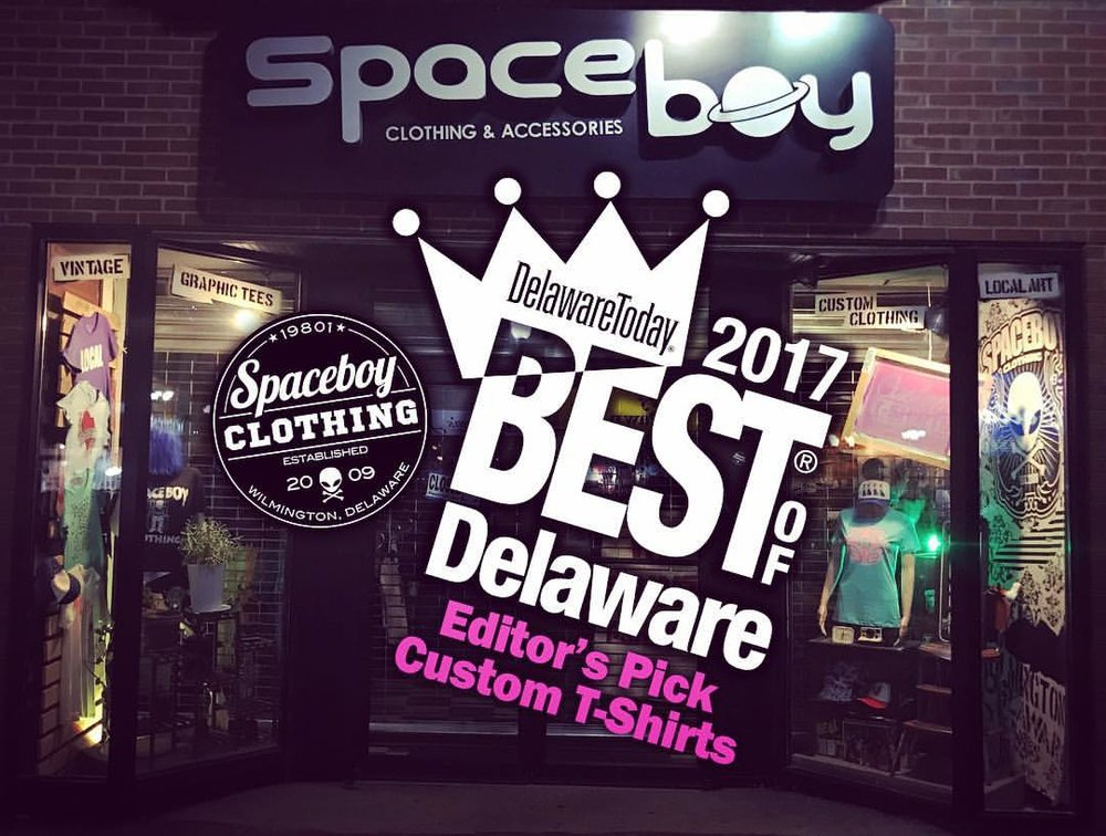 "We are very excited to be on the ""BEST OF DELAWARE"" list this year for Custom T-Shirts / Editor's Pick. The funny thing is, we had no idea we were even nominated. We found out in a ""Congratulations"" e-mail from Delaware Today but none the less are very honored to be chosen. We will be kicking it at the Chase Center August 10th for the B.O.D. Party so be sure to stop by our booth. We'll be giving away Free T-Shirts & High Fives all night!"