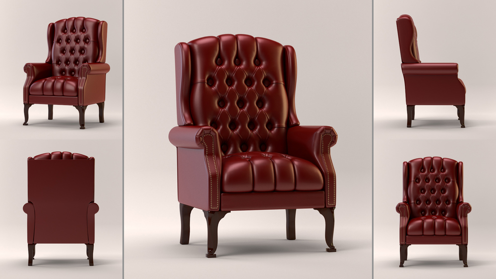 A quick leather material study of a stock chair model. This is a raw render with no post.  I like doing non-traditional leather materials.  There was a time when realistic leather was sort of hard to do.