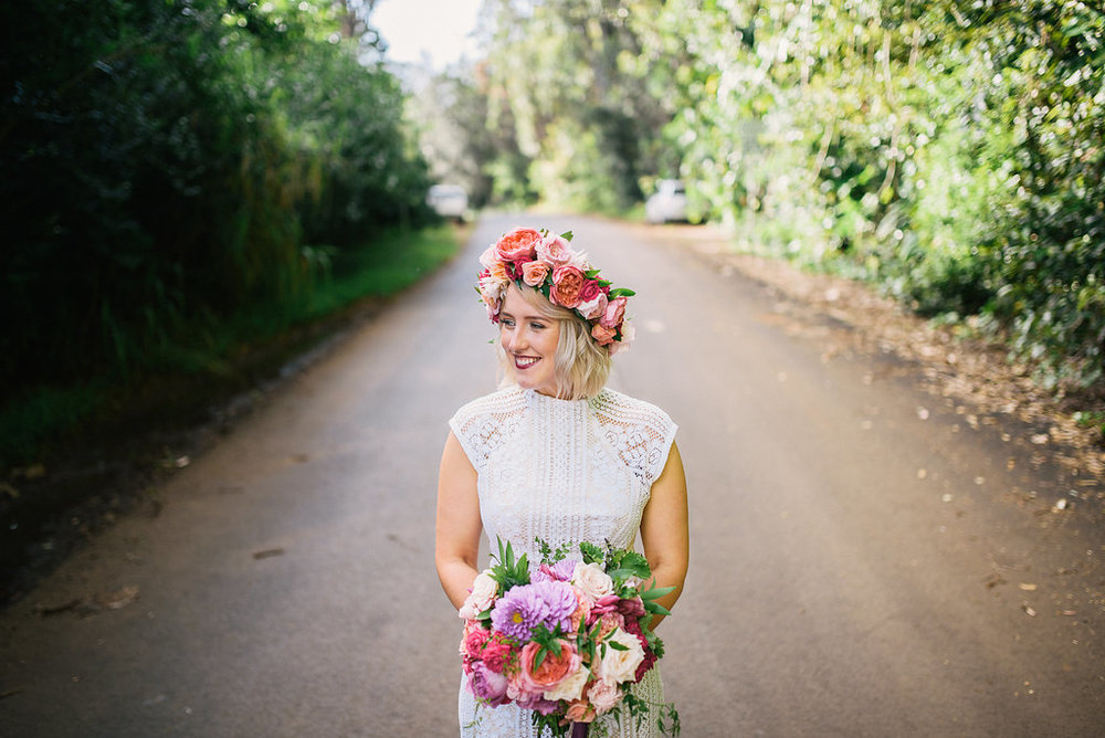 Floral and Design: Passion Roots | Venue: Sunset Ranch Hawaii | Photography: Christie Pham Photography