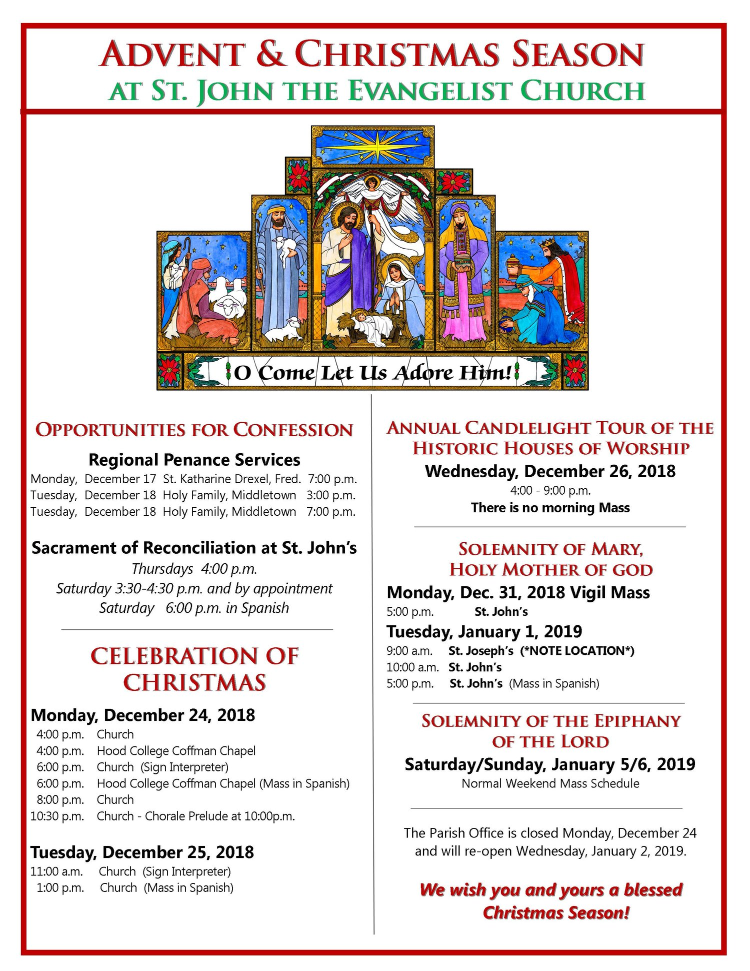 Upcoming Events — St  John the Evangelist Catholic Church