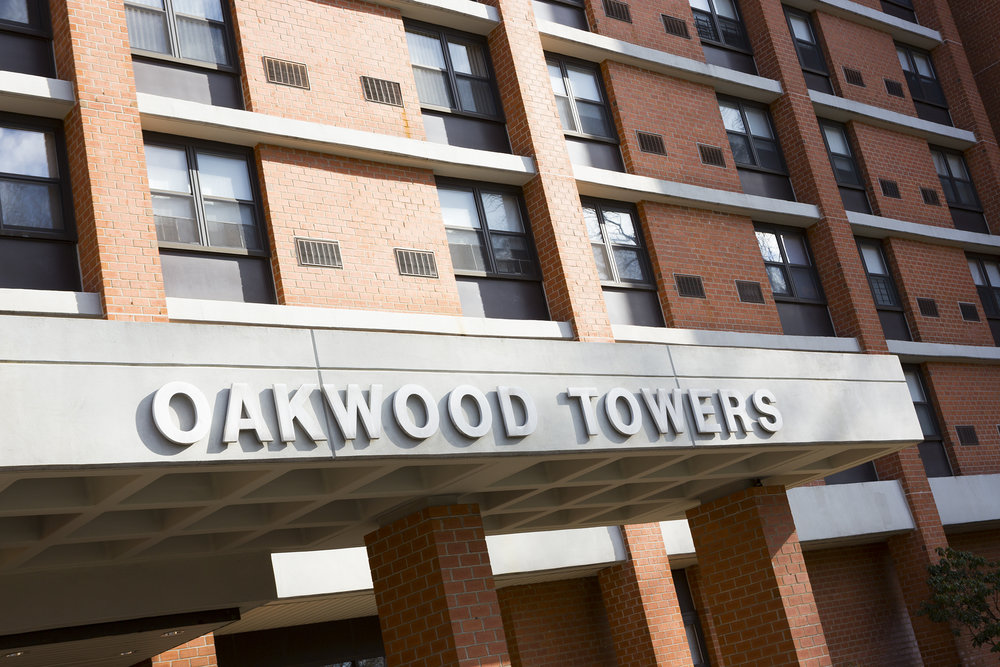 Oakwood Towers Sign
