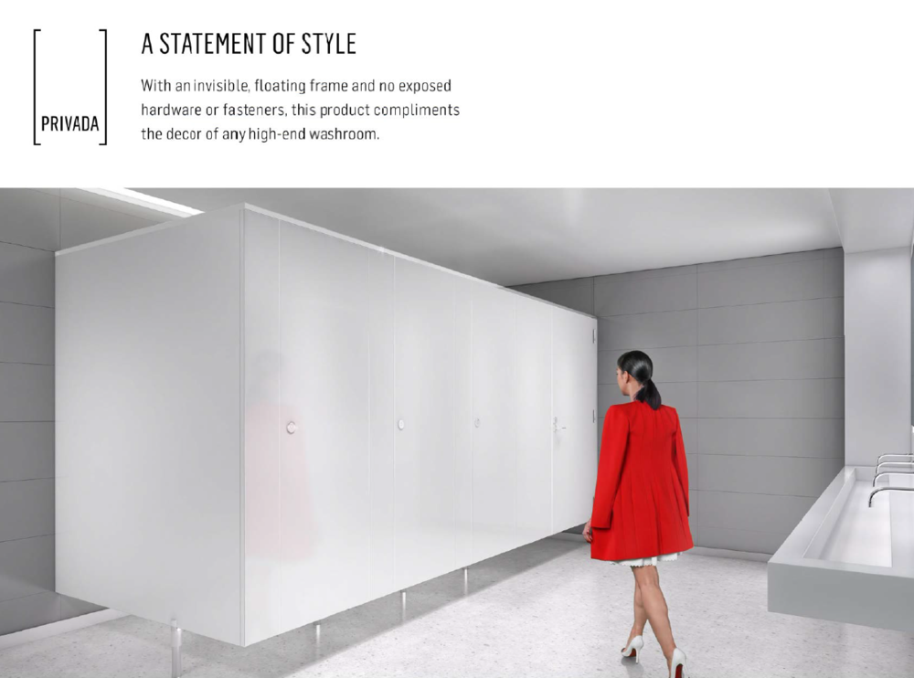 Product Lines ArchSpec - Bobrick bathroom partitions
