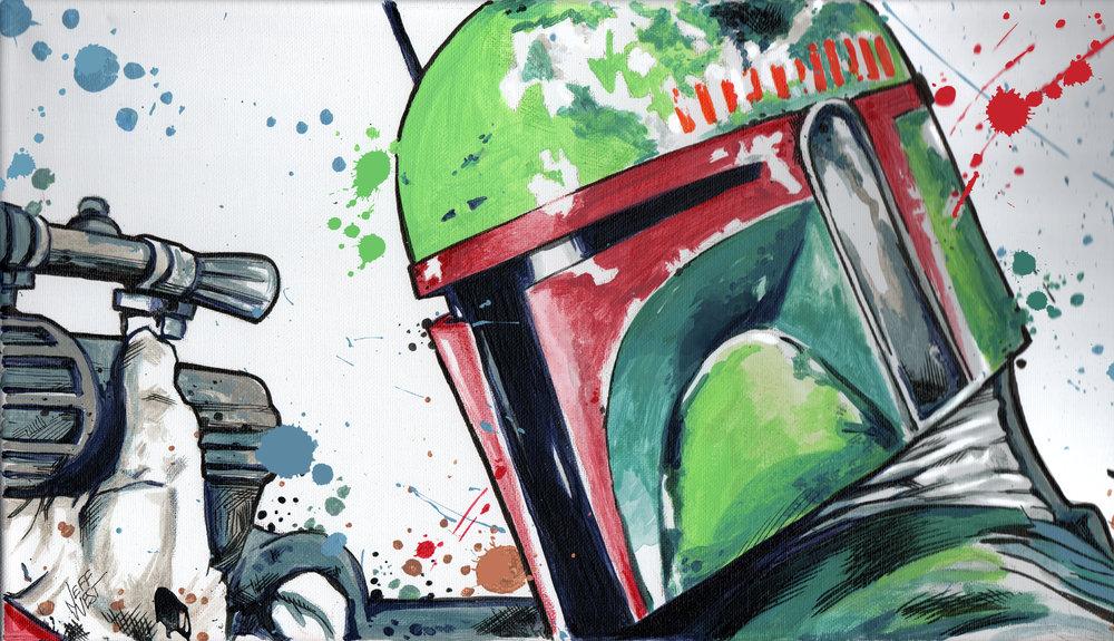 Art Dimes star wars Boba Fett