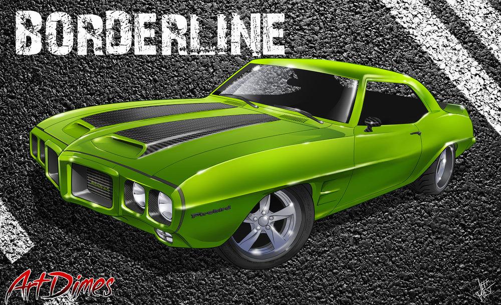 Art Dimes car design firebird art