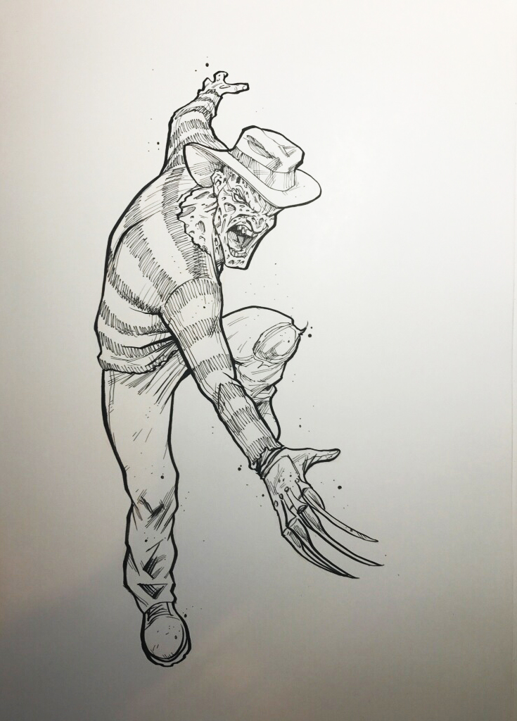 Freddy inktober by Art Dimes.jpg