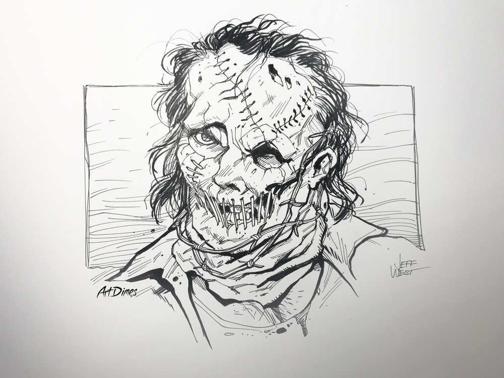 Leatherface Inktober by Art Dimes.jpg