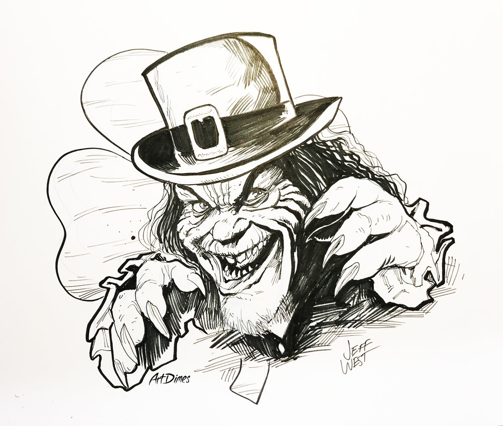 Leprechaun inktober by Art Dimes.jpg