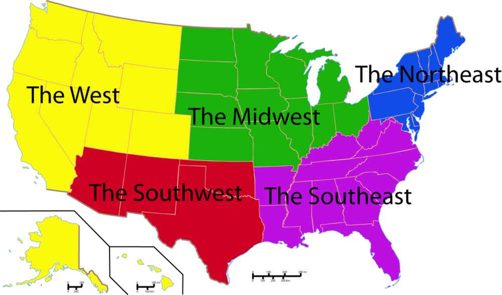 11:50 to 12:40 - After lunch, you go to History/Herstory. You learn about the different regions of the United States and the characteristics that inform the culture and identities of the people who live in those regions.