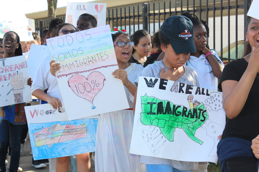 5th graders dream now rally.JPG