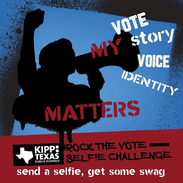 You matter! Encourage others to use their voice by voting.  Students remember to send in a selfie if you accompany someone to vote, and you'll get some voting swag (details at school). If you haven't been in to early vote, make sure to mark your calendars for Nov. 6th.  #futureleaders #kipptxselfiechallenge #vote #beyondtestprep #myvoicematters