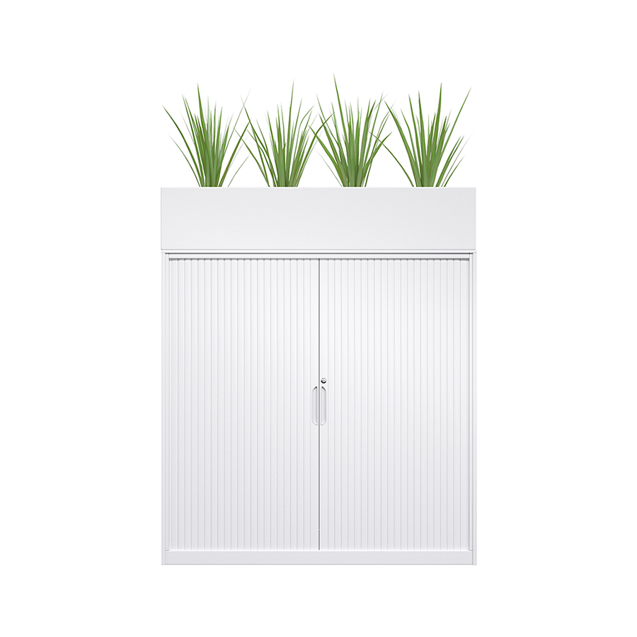 Tambour Door Cupboard & Planter