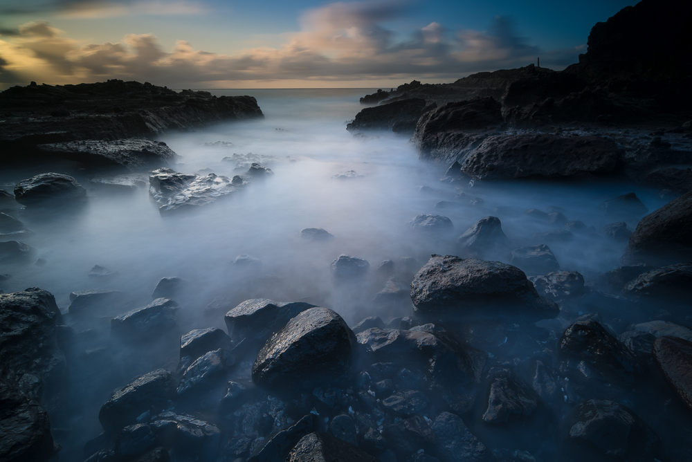 Sunrise at Sandy Beach Park Oahu, Hawaii Stacked Lee Big Stopper &3 stop hard grad Sony A7S II |  60 sec. |  f/8 |  ISO 50  |  Sony 16-35mm @ 16mm Edited in Lightroom & PhotoshopCC 2015 Copyright 2016 Ryan Sakamoto, All rights reserved