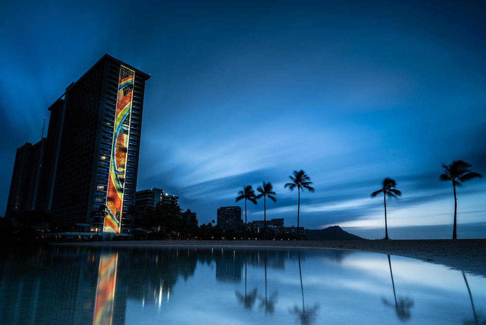 Hilton Hawaiian Lagoon Sunrise Lee Filter Big Stopper & 3 stop medium grad Sony A7S II    |    242 sec.    |    f/8 |    ISO 50    |    Zeiss Batis 18mm  Edited in Lightroom & Photoshop CC 2015  Copyright 2016 Ryan Sakamoto, All rights reserved