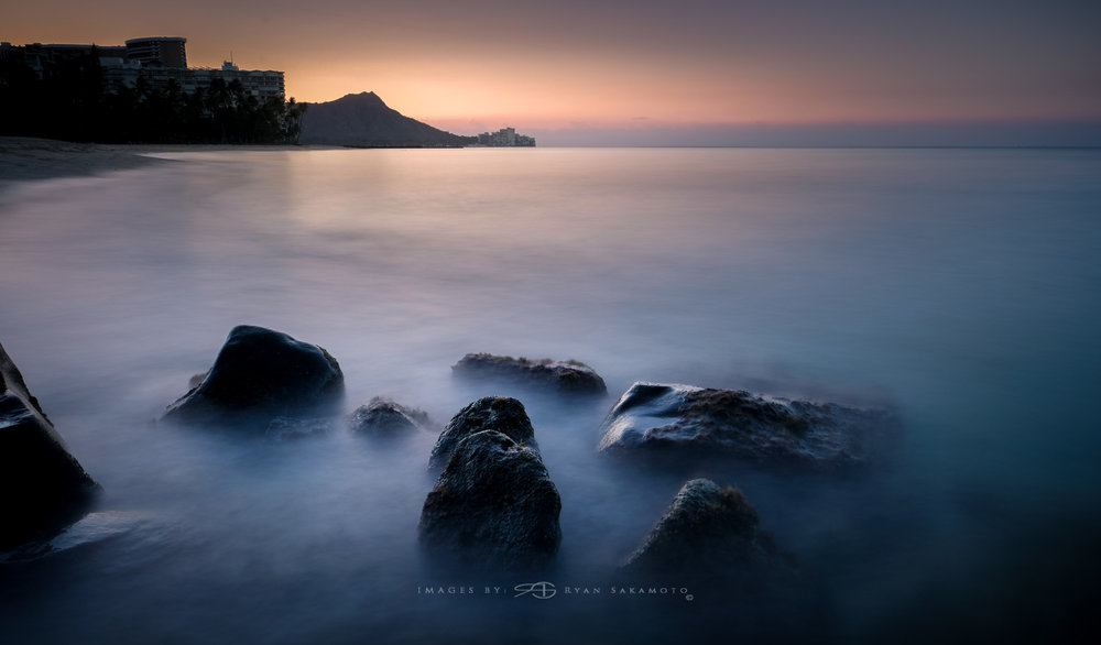 Punalu'u Golden Sunrise Lee Filter Big Stopper & 3 stop medium grad  Fuji XT2    |    30 sec.    |    f/11 |    ISO 200    |       XF16mm f/1.4 R WR  Edited in Lightroom & Photoshop CC 2015  Copyright 2016 Ryan Sakamoto, All rights reserved
