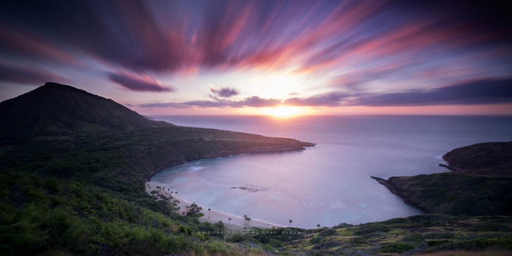 Sunrise from Hanauma Bay Trail Honolulu, Hawaii Lee Filter Big Stopper & 3 stop soft grad  Fuji XT2    |    118 sec.    |    f/8 |   ISO 200   |     XF 10-24mm f/4 R OIS  Edited in Lightroom & Photoshop CC 2017 Copyright 2017 Ryan Sakamoto, All rights reserved