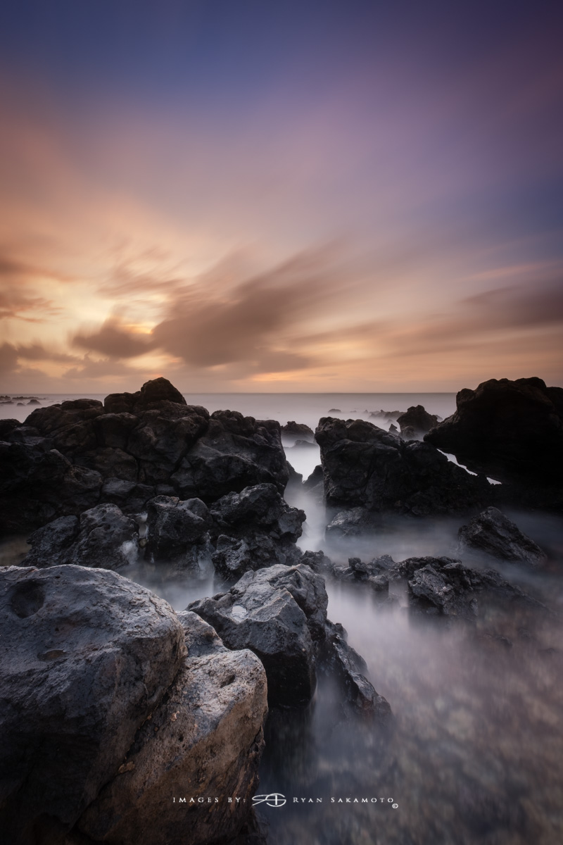 Sunrise from Sandy Beach Park, Honolulu, Hawaii Fuji XT2    |    120 sec.    |    f/8   |   ISO 100 |   Fujinon XF 10-25mm F/4 R OIS @10mm BREAKTHROUGH stacked filters, 3-stop soft GND, 3-stop reverse grad & 6-stop ND Edited in Lightroom & Photoshop CC 2017 Copyright 2017 Ryan Sakamoto, All rights reserved.