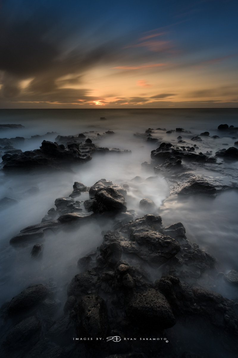 Sunrise from Sandy Beach Park, Honolulu, Hawaii  Fuji XT2    |    120 sec.    |    f/8   |   ISO 100 |   Fujinon XF 10-25mm F/4 R OIS    BREAKTHROUGH PHOTOGRAPHY X4 stacked filters, 3-stop soft 100x150mm GND, 3-stop hard reverse 100x150 Grad & 6-stop 100mm ND  Edited in Lightroom Classic CC & Photoshop CC 2018 Copyright 2017 Ryan Sakamoto, All rights reserved