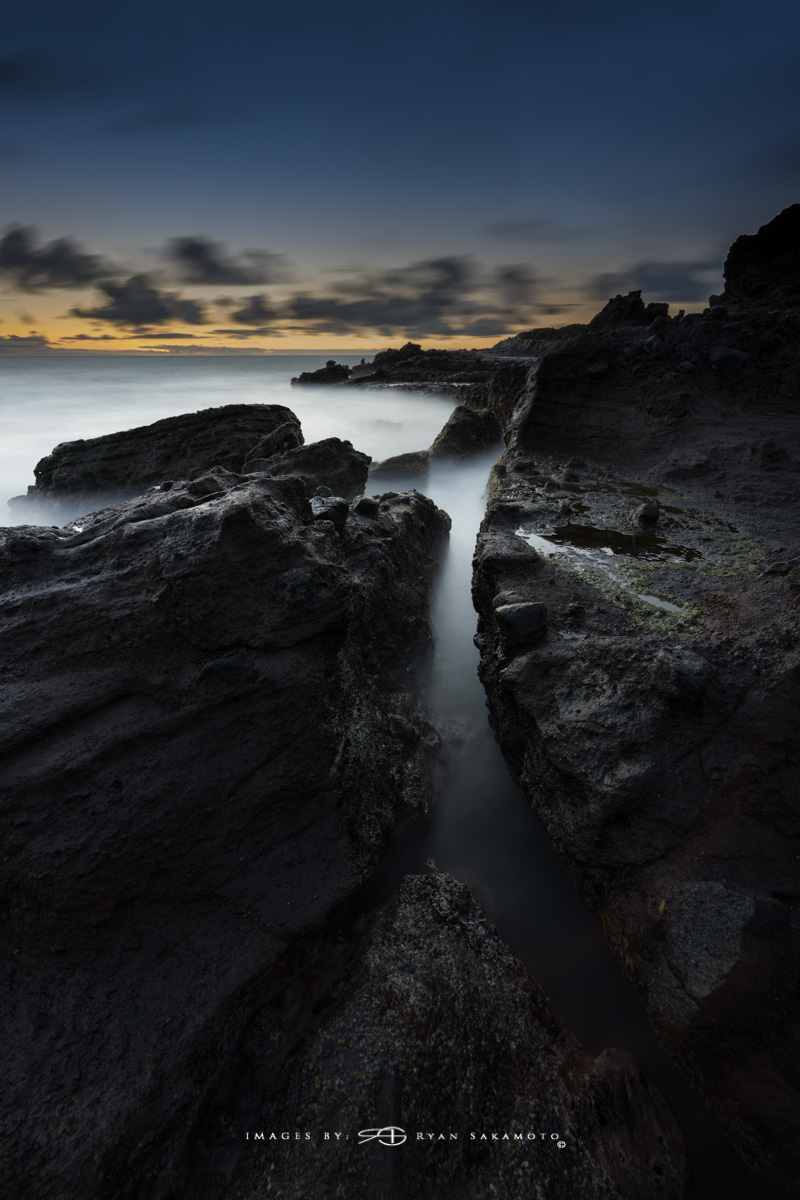 Sunrise from Sandy Beach, Honolulu, Hawaii Sony A7R III    |    60 sec.    |    f/11   |   ISO 50 |   Sony FE 16-35mm GM F/2.8 BREAKTHROUGH PHOTOGRAPHY X4 stacked filters, 10-stop 100x100mm ND, 3-stop hard reverse 100x150 Edited in Lightroom Classic & Photoshop CC 2018 Copyright 2017 Ryan Sakamoto, All rights reserved