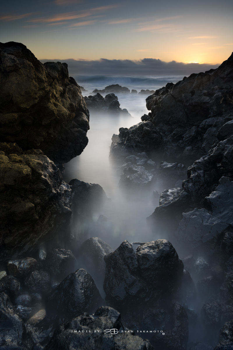 Sunset from the Point Hawaii  Sony A7R III    |    121 sec.    |    f/11  |   ISO 100 |     Sony FE 16-35mm GM F/2.8     BREAKTHROUGH PHOTOGRAPHY X4 stacked filters, 10-stop 100x100mm ND, 3-stop hard reverse 100x150  Edited in Lightroom Classic CC & Photoshop CC 2018 Copyright 2018 Ryan Sakamoto, All rights reserved