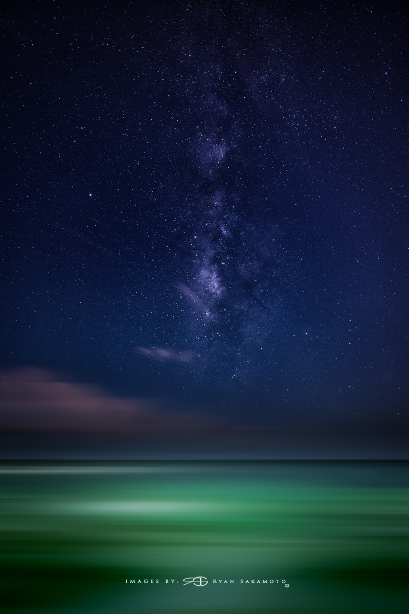 Eastside Milky Way, Hawaii  Sony A7R III    |      20 sec.    |  f/2.8  |   ISO 1600   |   Sony FE 16-35mm GM F/2.8       Single Frame Edit  Edited in Lightroom Classic & Photoshop CC 2018 Copyright 2018 Ryan Sakamoto, All rights reserved