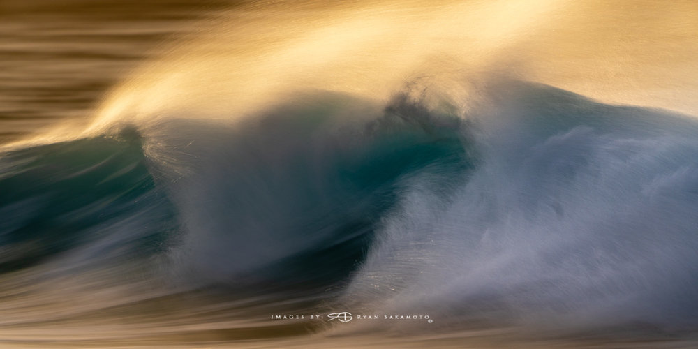 Sunrise from Sandy Beach, Hawaii Fine Art, Long Exposure, Wave Photography  Sony A7R III    |      1/10 sec.    |  f/5.6  |   ISO 50   |     S  ony FE 100-400mm GM OSS    Edited in Lightroom Classic CC 2018 Copyright 2018 Ryan Sakamoto, All rights reserved