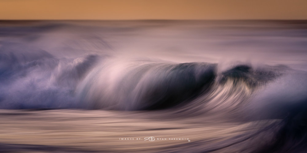 Sunrise from Sandy Beach, Hawaii Fine Art, Long Exposure, Wave Photography  Sony A7R III    |      1/5 sec.    |  f/5.6  |   ISO 800   |     S  ony FE 100-400mm GM OSS    Edited in Lightroom Classic CC 2018 Copyright 2018 Ryan Sakamoto, All rights reserved