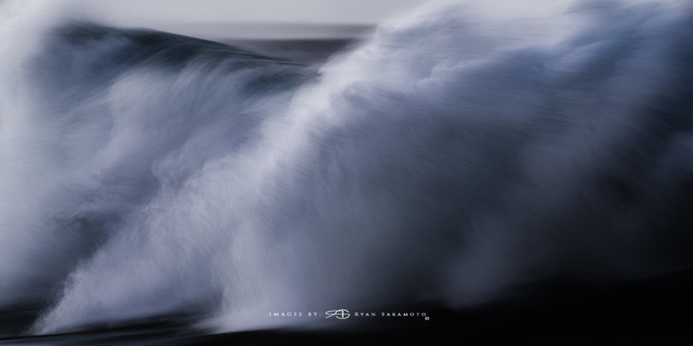 Sunrise from Sandy Beach, Hawaii Fine Art, Long Exposure, Wave Photography  Sony A7R III    |      1/6 sec.    |  f/5.6  |   ISO 800   |     S  ony FE 100-400mm GM OSS    Edited in Lightroom Classic & Photoshop CC 2018 Copyright 2018 Ryan Sakamoto, All rights reserved