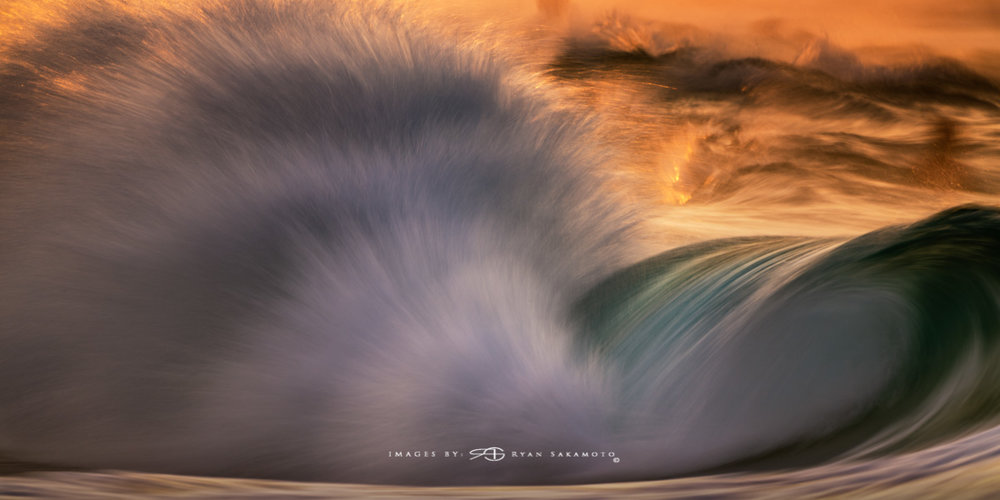 Sunrise from Sandy Beach, Hawaii Fine Art, Long Exposure, Wave Photography  Sony A7R III  |    1/10 sec.  |  f/8  |  ISO 80  |    S  ony FE 100-400mm GM OSS + 1.4X Teleconverter   Edited in Lightroom Classic & Photoshop CC 2018 Copyright 2018 Ryan Sakamoto, All rights reserved