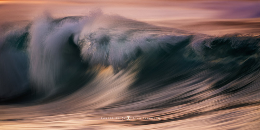 Sunrise from Sandy Beach, Hawaii Fine Art, Long Exposure, Wave Photography  Sony A7R III  |    1/6 sec.  |  f/5.6 |  ISO 800  |    S  ony FE 100-400mm GM OSS + 1.4X Teleconverter   Edited in Lightroom Classic & Photoshop CC 2018 Copyright 2018 Ryan Sakamoto, All rights reserved