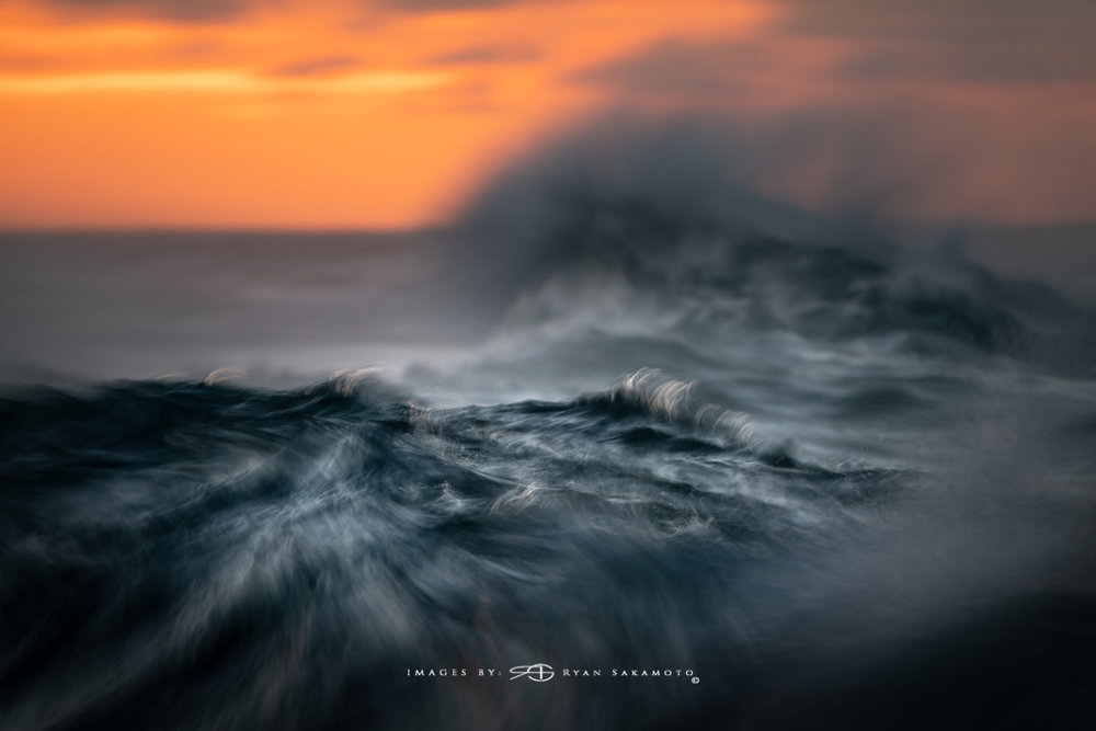 Sunrise from Sandy Beach, Hawaii Long Exposure Fine Art Wave Photography Collection  Sony A9  |  1/8 sec.  |  f/8 |  ISO 200  |  Sony FE 100-400mm GM OSS + 1.4X Teleconverter Breakthrough Photography 100x100, 3 stop ND Filter  Edited in Lightroom Classic & Photoshop CC 2018 Copyright 2018 Ryan Sakamoto, All rights reserved