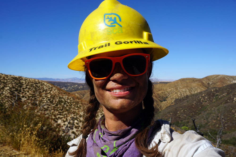 Shawnté volunteering with the Pacific Crest Trail Association - Trail Gorillas.jpg