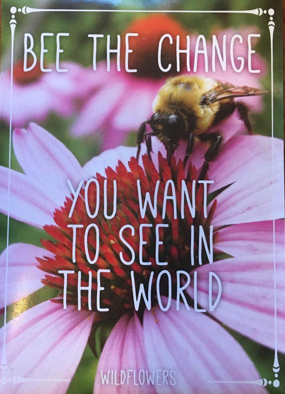 Bee-friendly Wildflower Seed Packet