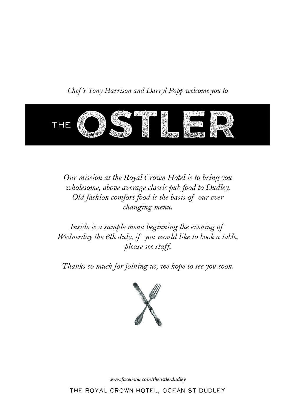 The Ostler — BISTRO LOWLANDS