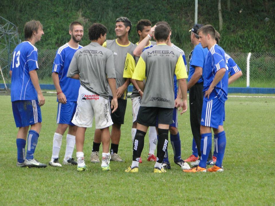 Post-match Portuguese lesson after playing Ponte Preta u21s