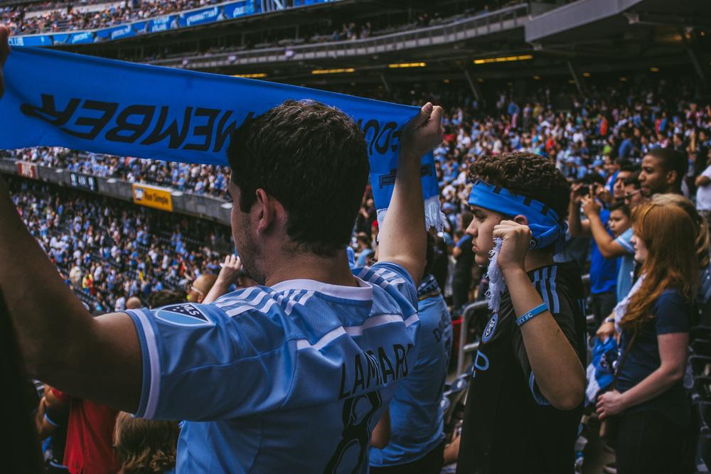 A packed NYCFC match. (Photo courtesy of Sebastian Ramirez)
